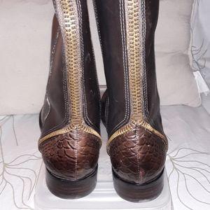 ARTURO CHIANG felicity boot reptile zipper detail